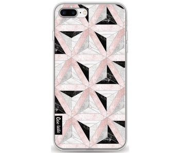 Marble Triangle Blocks Pink - Apple iPhone 7 Plus / 8 Plus