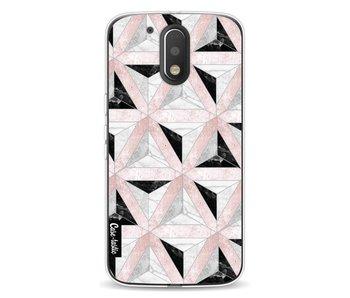 Marble Triangle Blocks Pink - Motorola Moto G4 / G4 Plus