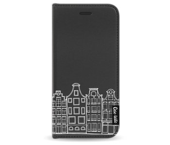 Amsterdam Canal Houses White - Wallet Case Black Apple iPhone 7 / 8