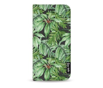 Transparent Leaves - Wallet Case Black Apple iPhone 7 / 8