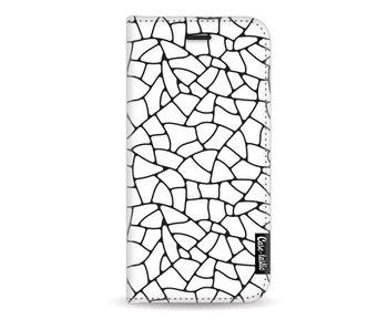 Transparent Mosaic - Wallet Case White Apple iPhone 7 / 8