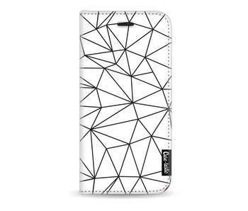 So Many Lines! Black - Wallet Case White Apple iPhone 7 / 8