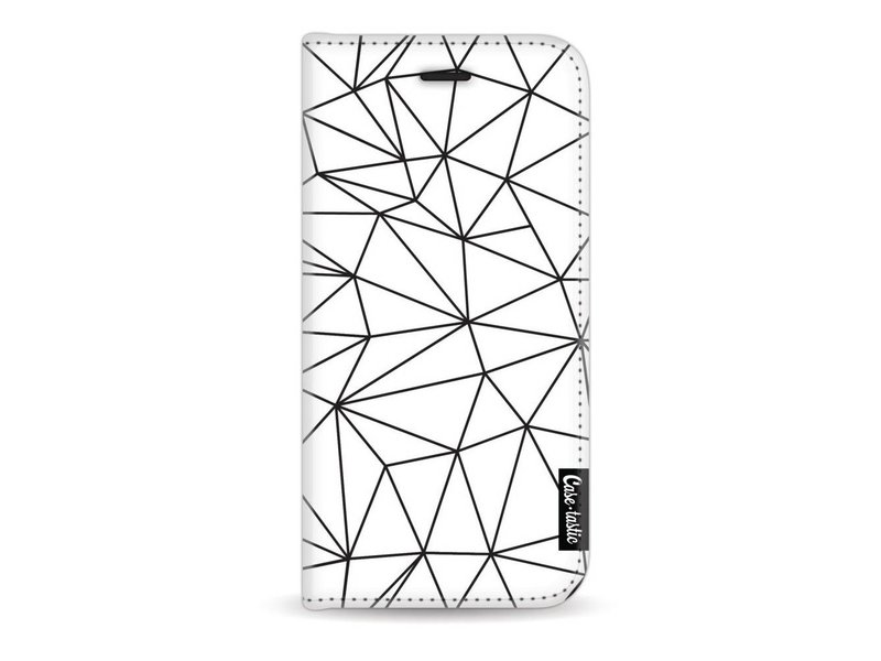Casetastic Wallet Case White Apple iPhone 7 / 8 - So Many Lines! Black