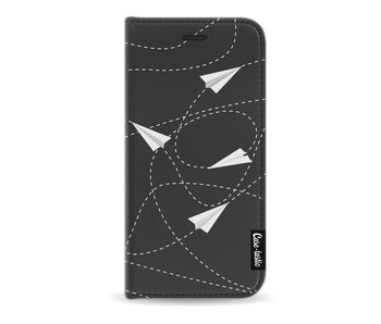 Paperplanes - Wallet Case Black Apple iPhone 7 / 8