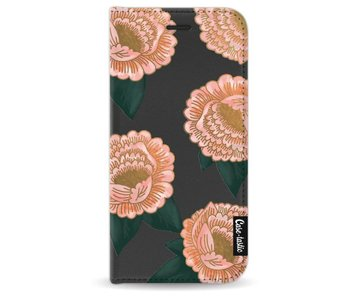 Winterly Flowers - Wallet Case Black Apple iPhone 7 / 8