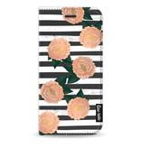 Casetastic Wallet Case Black Apple iPhone 7 / 8 - Striped Winter Flowers