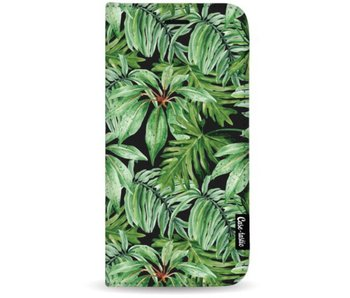 Transparent Leaves - Wallet Case Black Apple iPhone 7 Plus / 8 Plus