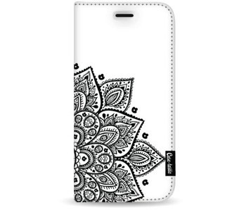 Floral Mandala - Wallet Case White Apple iPhone 7 Plus / 8 Plus