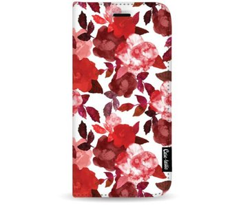 Royal Flowers Red - Wallet Case White Apple iPhone 7 Plus / 8 Plus