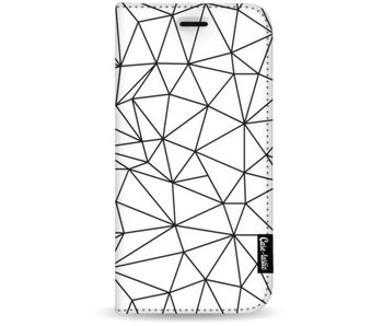 So Many Lines! Black - Wallet Case White Apple iPhone 7 Plus / 8 Plus
