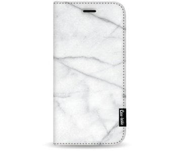 White Marble - Wallet Case White Apple iPhone 7 Plus / 8 Plus