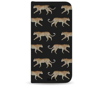 Hunting Leopard - Wallet Case Black Apple iPhone 7 Plus / 8 Plus