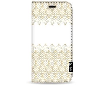 Golden Diamonds - Wallet Case White Apple iPhone 7 Plus / 8 Plus