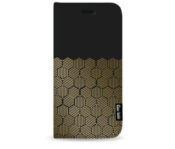 Golden Hexagons - Wallet Case Black Apple iPhone 7 Plus / 8 Plus