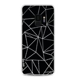 Casetastic Softcover Samsung Galaxy S9 - Abstract Dotted Lines Black