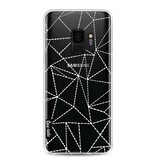 Casetastic Softcover Samsung Galaxy S9 - Abstract Dotted Lines Transparent