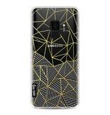 Casetastic Softcover Samsung Galaxy S9 - Abstraction Half Half Transparent