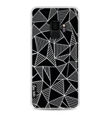 Casetastic Softcover Samsung Galaxy S9 - Abstraction Lines Black