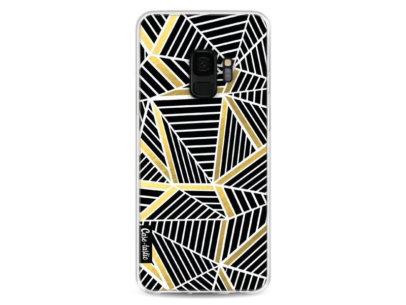 Casetastic Softcover Samsung Galaxy S9 - Abstraction Lines Black Gold