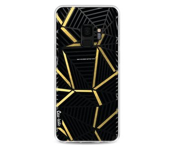 Abstraction Lines Black Gold Transparent - Samsung Galaxy S9