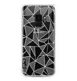 Casetastic Softcover Samsung Galaxy S9 - Abstraction Lines White Transparent