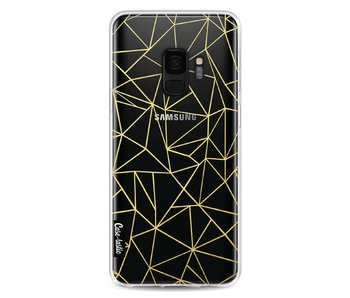 Abstraction Outline Gold Transparent - Samsung Galaxy S9