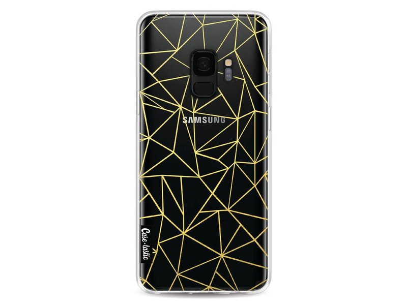 Casetastic Softcover Samsung Galaxy S9 - Abstraction Outline Gold Transparent