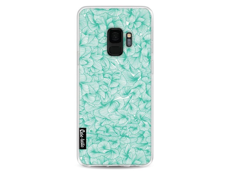 Casetastic Softcover Samsung Galaxy S9 - Abstract Pattern Turquoise