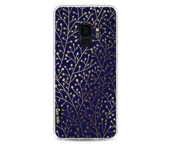 Berry Branches Navy Gold - Samsung Galaxy S9