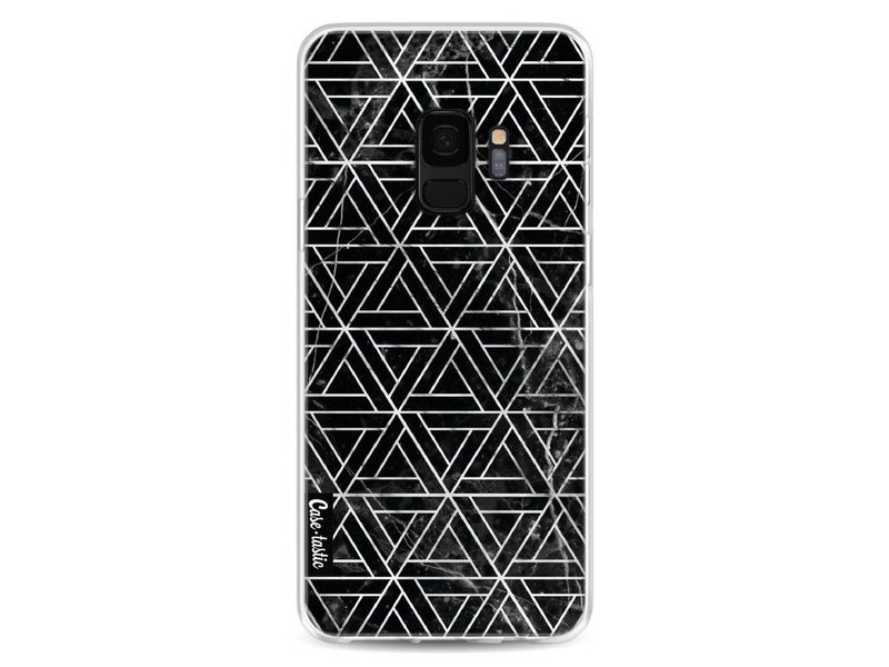 Casetastic Softcover Samsung Galaxy S9 - Abstract Marble Triangles