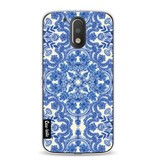 Casetastic Softcover Motorola Moto G4 / G4 Plus - Blue White Folk Art