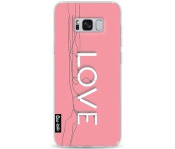 Love Neon Pink - Samsung Galaxy S8 Plus