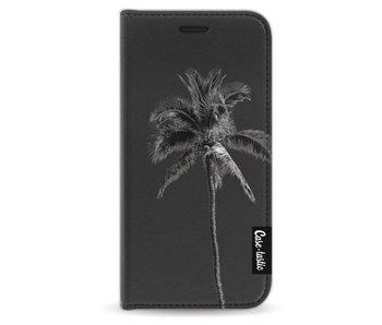 Palm Tree Transparent - Wallet Case Black Apple iPhone 5 / 5s / SE