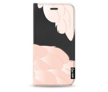 Peach Feathers - Wallet Case Black Samsung Galaxy J5 (2017)