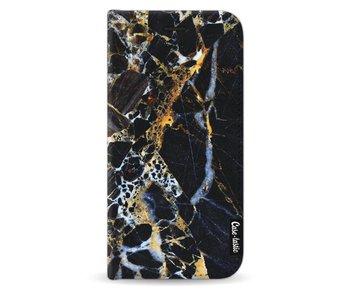 Black Gold Marble - Wallet Case Black Samsung Galaxy J3 (2017)