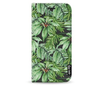 Transparent Leaves - Wallet Case Black Samsung Galaxy J3 (2017)