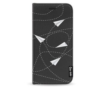 Paperplanes - Wallet Case Black Samsung Galaxy J3 (2017)