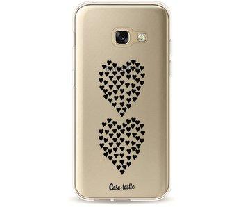 Hearts Heart 2 Black Transparent - Samsung Galaxy A3 (2017)