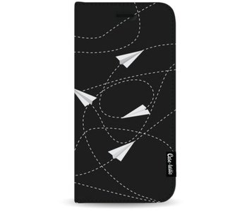 Paperplanes - Wallet Case Black Apple iPhone 7 Plus / 8 Plus