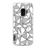Casetastic Softcover Samsung Galaxy S9 - Abstraction Lines White