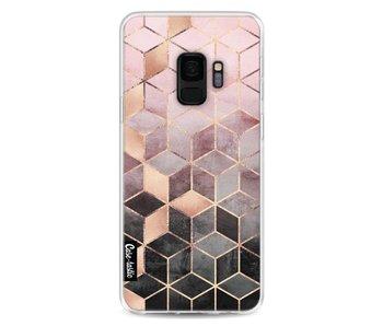 Soft Pink Gradient Cubes - Samsung Galaxy S9