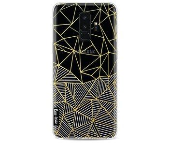 Abstraction Half Half Transparent - Samsung Galaxy S9 Plus