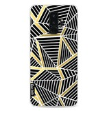 Casetastic Softcover Samsung Galaxy S9 Plus - Abstraction Lines Black Gold