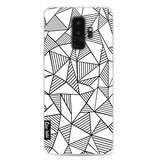 Casetastic Softcover Samsung Galaxy S9 Plus - Abstraction Lines White