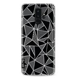 Casetastic Softcover Samsung Galaxy S9 Plus - Abstraction Lines White Transparent