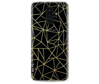 Abstraction Outline Gold Transparent - Samsung Galaxy S9 Plus