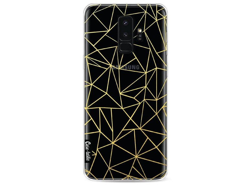 Casetastic Softcover Samsung Galaxy S9 Plus - Abstraction Outline Gold Transparent