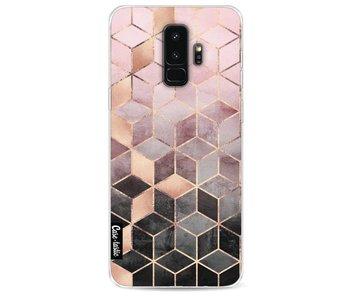 Soft Pink Gradient Cubes - Samsung Galaxy S9 Plus