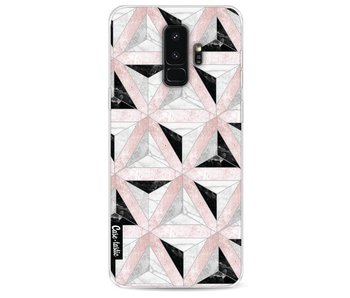 Marble Triangle Blocks Pink - Samsung Galaxy S9 Plus