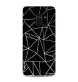 Casetastic Softcover Samsung Galaxy A8 (2018) - Abstract Dotted Lines Black